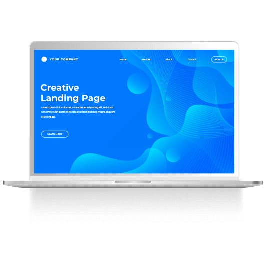 Beautiful landing pages